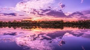 7680x4320 sunrise reflection on lake 8k