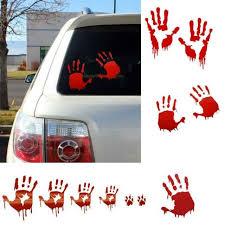 Bloody Zombie Hand Print Car Truck Vehicle Window Decal Vinyl Sticker Halloween For Sale Online Ebay