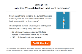 discover replacing cashback checking