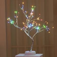 36/108 Đèn LED Dùng Nguồn USB Cây Cảnh Cây Đèn Dây Đồng Dây Đèn Bàn Đèn  Chiếu Sáng Ban Đêm để Đầu Giường Cưới Quà Giáng Nhà Trong Nhà trang trí|