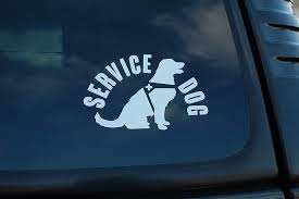 Amazon Com Service Dog Sticker Vinyl Decal K9 Unit On Board Caution Pick Size Color V465 4 X 2 5 White Arts Crafts Sewing