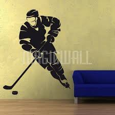 Wall Decals Ice Hockey Player Wall Stickers