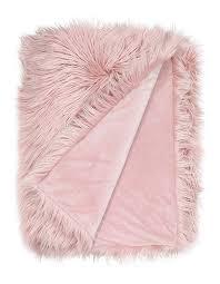 vue kenya faux fur throw in pink myer