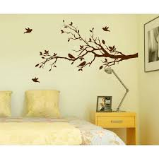 Tree Branches Wall Decal Love Birds Vinyl Sticker Nursery Leaves 56 Wide X 28 High Right To Left 1226 Walmart Com Walmart Com