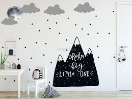 Kids Black Mountains And Dark Moon Wall Decal Sticker Wall Decals Wallmur