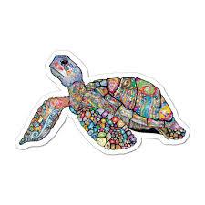 Turtle Pattern Henna Ocean Animal Laptop Car Sticker Decal Ocean Stickers Sticker Collective