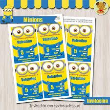 Minions Invitacion Textos Editables Minions Cosas De Minion Y