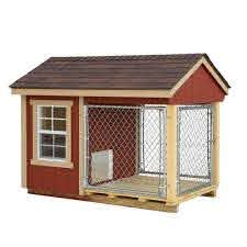 Ez Fit Sheds 4 X7 Indoor Outdoor Dog Kennel And Cage With Run Homestead Supplier