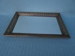 vanity dresser tray mirror antique