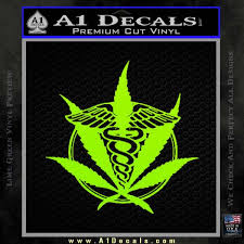 Medical Marijuana Pot Weed D1 Decal Sticker A1 Decals