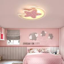 Cartoon Star And Moon Design Led Flush Mount Ceiling Light For Kids Bedroom Study Room Takeluckhome Com