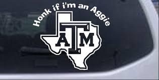 Honk If Im An Aggie Car Or Truck Window Decal Sticker Rad Dezigns