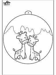 Kerstbal Met Giraffe Knutselen Kerst