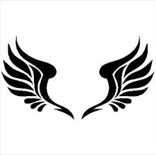 Amazon Com Diamondxdecals Angel Wings Vinyl Decal Die Cut Sticker Automotive