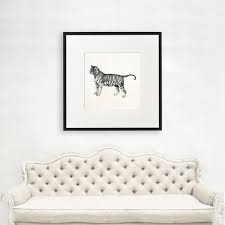 Tiger Wall Art Gift Large Tiger Wall Art Gift For Scientist Tiger Lover Gift Science Geek Zoologist Gift Science Illustration 1059 Paper Metal Canvas