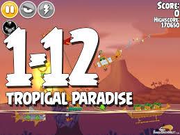 Angry Birds Seasons Tropigal Paradise Level 1-12 Walkthrough ...