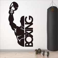 Boxing Boxer Fight Wall Sticker Gym Fitness Exercise Vinyl Wall Decal Workout Sport Art Decor Wall Stickers Aliexpress