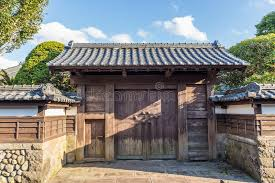 Japanese Style House Gate And Fence Stock Photo Image Of Gate Wall 88327006