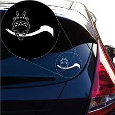 Amazon Com Yoonek Graphics My Neighbor Totoro Decal Sticker For Car Window Laptop And More 1159 4 X 6 5 White Automotive