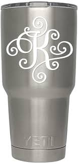 Amazon Com Viavinyl Monogram Die Cut Decal Sticker Click For Color Letter Options Available In Four Colors And All Letters A Z Great For Windows Yeti And Rtic Tumblers Macbooks And More Letter K White Kitchen