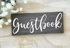 Guestbook Sign Decal Wooden Wedding Decor Sticker Rustic Wedding Signs Removable Self Adhesive Art Wall Decals Wallpapers Aliexpress