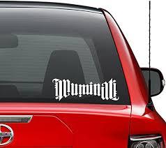 Amazon Com Illuminati Symbol Vinyl Decal Sticker Car Truck Vehicle Bumper Window Wall Decor Helmet Motorcycle And More Size 9 Inch 23 Cm Wide Color Gloss White Home Kitchen