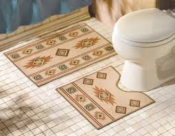 santa fe southwest bathroom accent rug