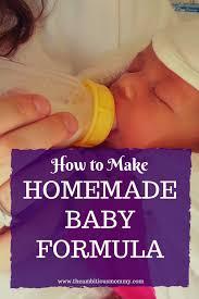 how to make homemade baby formula you