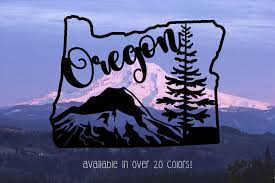 Oregon Decal Oregon Vinyl Decals Oregon Decal For Car Car Etsy
