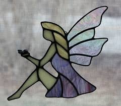 stained glass suncatcher fairy