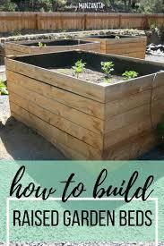 Diy Raised Garden Beds Using Cedar Boards Making Manzanita