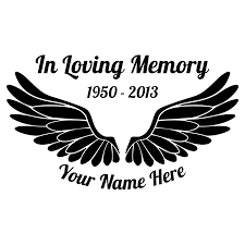 In Loving Memory Angel Wings Sticker
