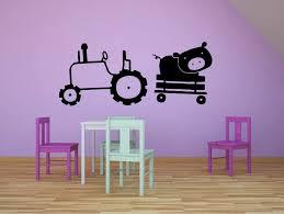 Amazon Com Tractor Construction Truck Ride Tractors Pig Farm Wall Sticker Art Decal For Girls Boys Kids Room Bedroom Nursery Kindergarten House Fun Home Decor Stickers Wall Art Vinyl Decoration Size 8x10 Inch