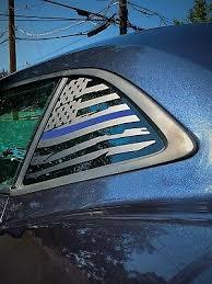 Chevrolet Camaro Thin Blue Line Distressed American Flag Window Decal 2010 2015 Ebay