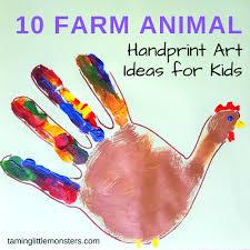 Farm Animal Handprint Art For Kids Taming Little Monsters