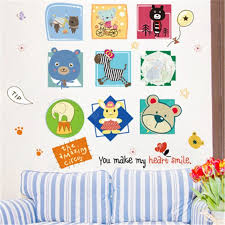 Creative Cartoon Lovely Animal Children Bedroom Decoration Wall Stickers Sale Price Reviews Gearbest