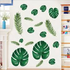 1 Pc Home Tropical Jungle Green Leaves Wall Sticker Decoration Wall Mural Decal Wish
