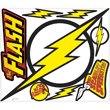 Classic The Flash Logo Giant Wall Decals Roommates Decor