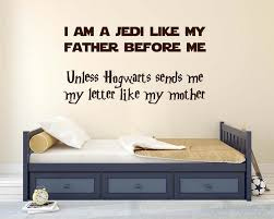 Star Wars And Harry Potter Theme Wall Sticker
