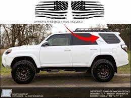 Toyota 4runner Distressed American Flag Side Window Decal Fits 2010 Importequipment