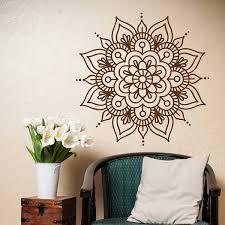 Mandala Wall Decals Bedroom Yoga Wall Decal Vinyl Sticker Morrocan Pattern Om Symbol Meditation Boho Wish