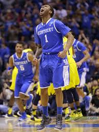 James Young elated. Kentucky takes down Michigan on Aaron Harrison ...