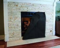 fireplace screen blanket minimize