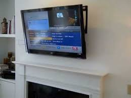 above fireplace lcd wall mount tv