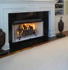 radiant wood burning fireplace