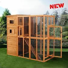 huge cat house cage outdoor enclosure
