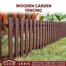 lexis diy garden wooden fence 300mm