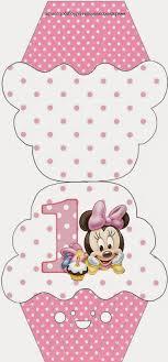 Minnie Primer Ano Con Lunares Invitaciones Para Imprimir Gratis Angelitos Para Bautizo Manualidades Scrapbook De Bebe Tarjetas De Bebe