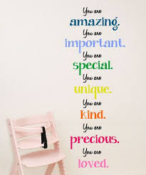 Loving This You Are Amazing Important Special Wall Decal On Zulily Zulilyfinds Playroom Wall Decals Inspirational Wall Decals Kids Wall Decals
