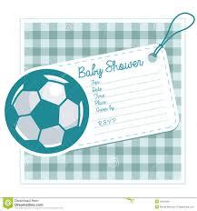 La Fiesta De Bienvenida Al Bebe Del Futbol Invita A La Tarjeta